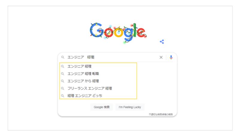 Google検索結果エンジニア経理